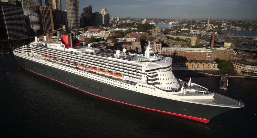 Queen Mary 2 docked at Sydney Port