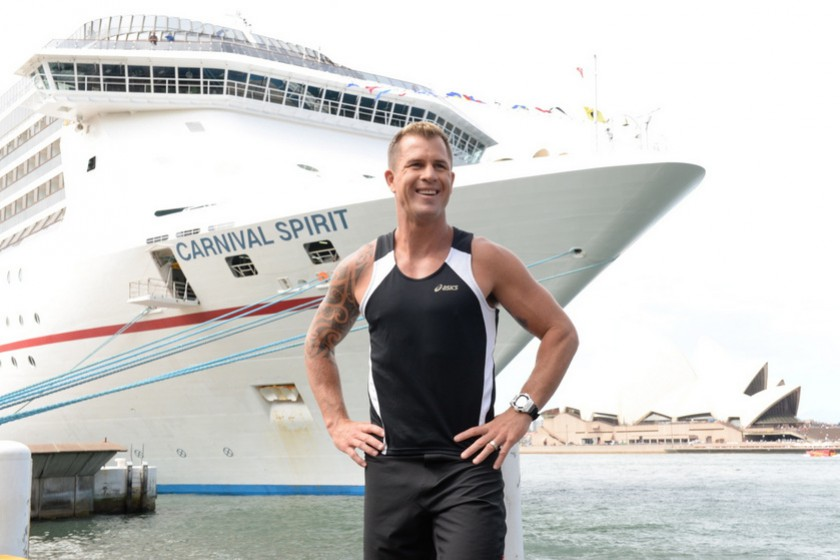 Shannan works out on Carnival Cruises