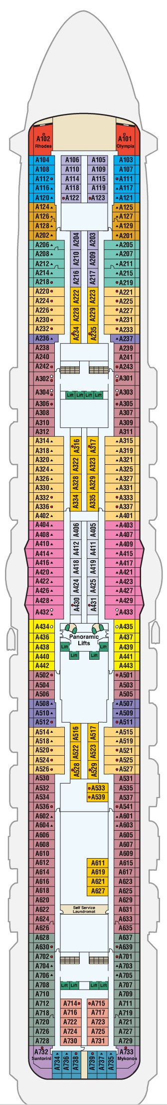 Regal Princess Deck 12 - Aloha layout