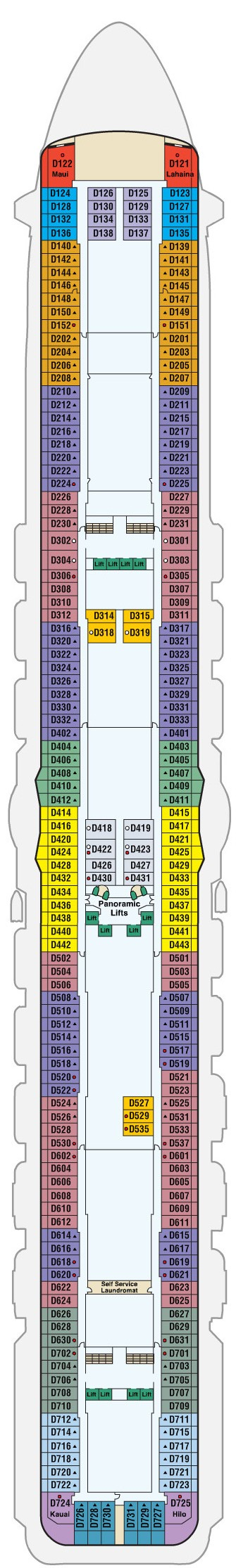 Regal Princess Deck 9 - Dolphin layout