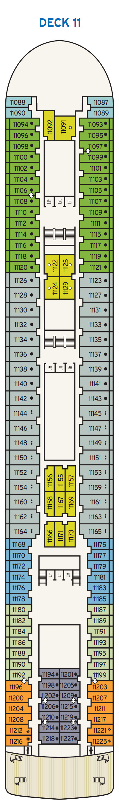P&O - Pacific Jewel Deck 11 layout