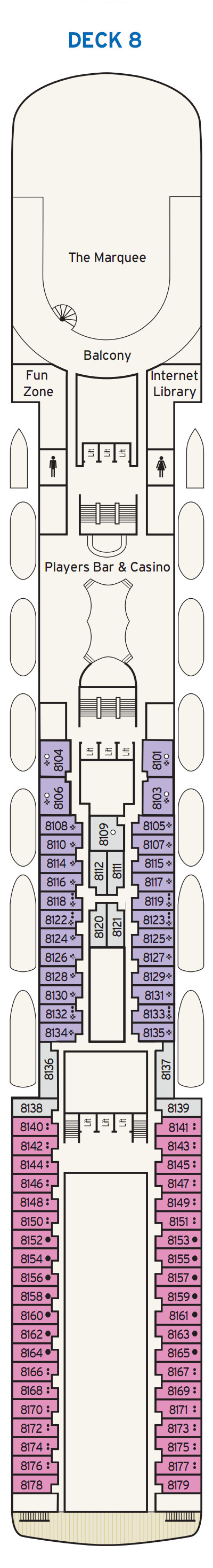 P&O - Pacific Jewel Deck 8 layout