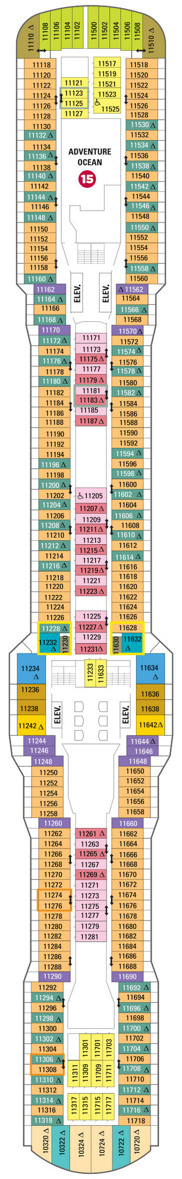 Quantum Of The Seas Deck 11 layout
