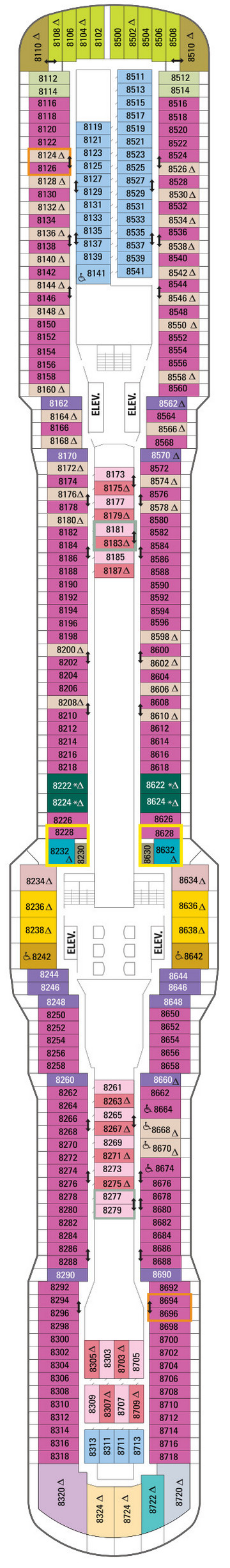 Quantum Of The Seas Deck 8 layout