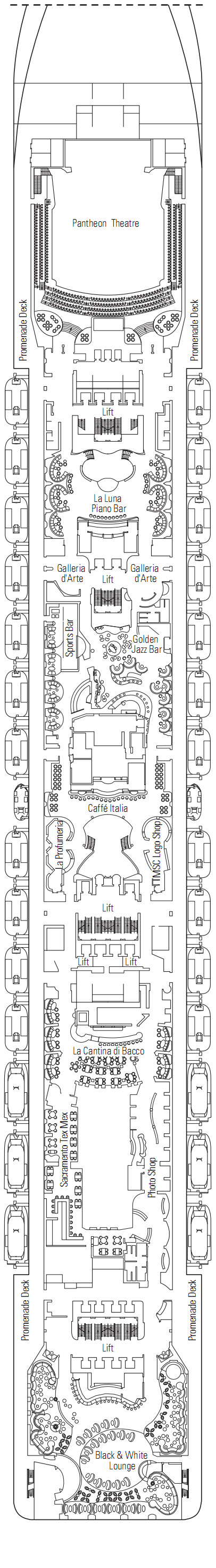 MSC Preziosa Apollo Deck 7 layout