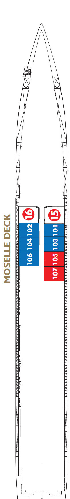 Scenic Gem Moselle Deck layout