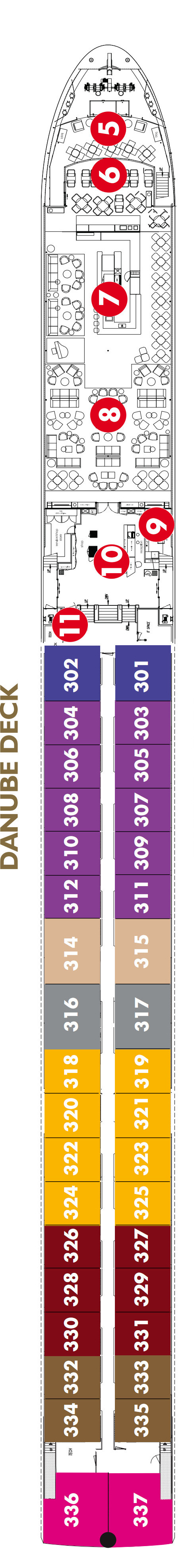 Scenic Emerald Danube Deck layout