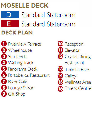 Scenic Jewel Moselle Deck plan keys