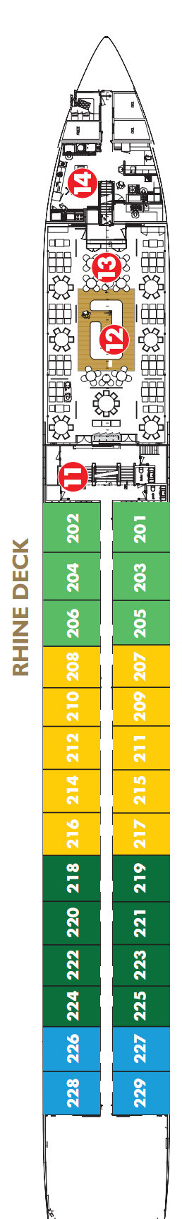 Scenic Gem Rhine Deck layout