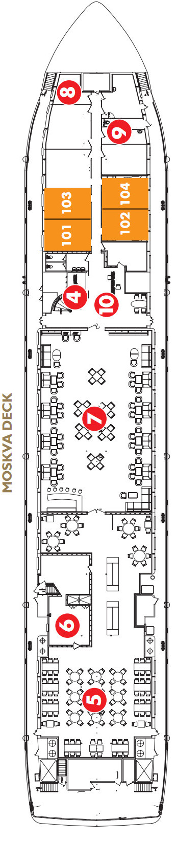 Scenic Tsar Moskva Deck layout