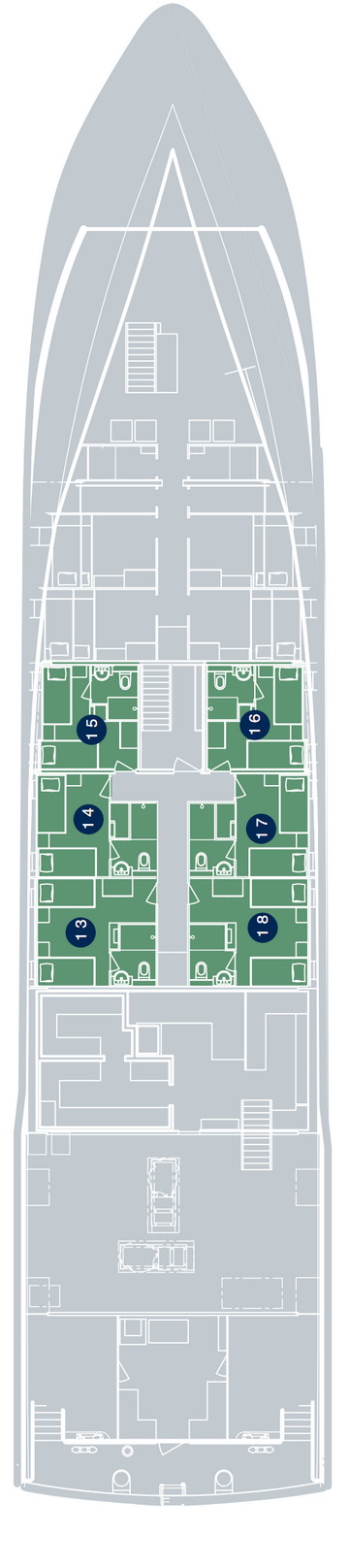 True North Lower Deck layout