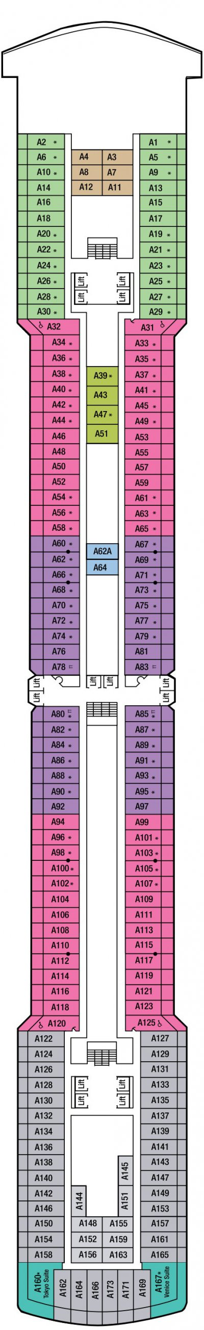Arcadia A Deck layout