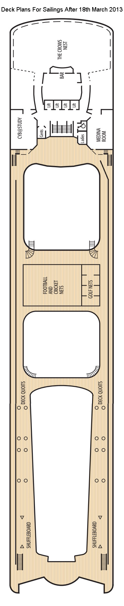 Oriana Sun Deck layout