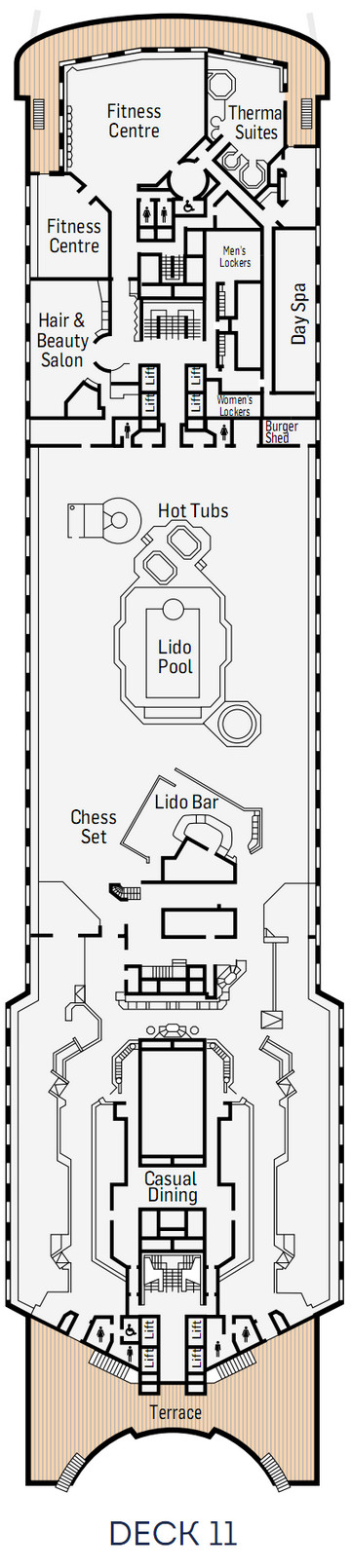 P&O - Pacific Eden Deck 11 layout