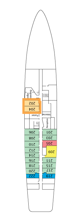 National Geographic Endeavour Main Deck layout