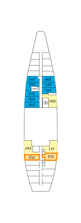 National Geographic Endeavour A Deck layout