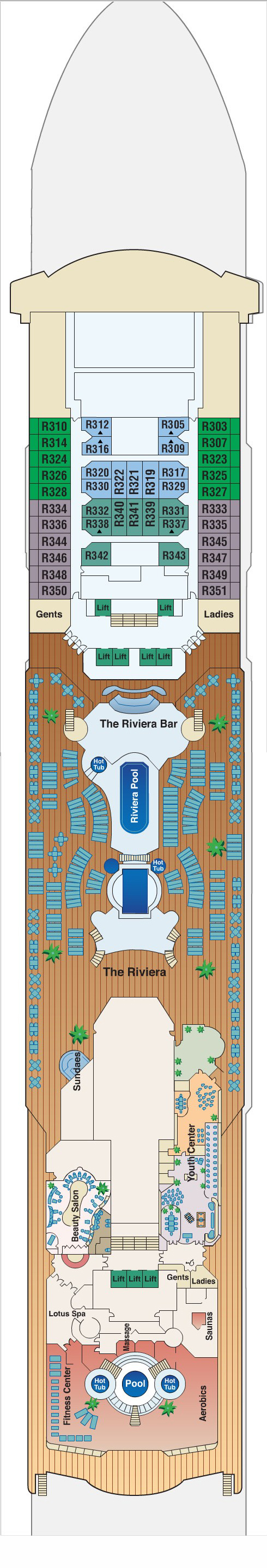 Sea Princess Riviera Deck 12 layout