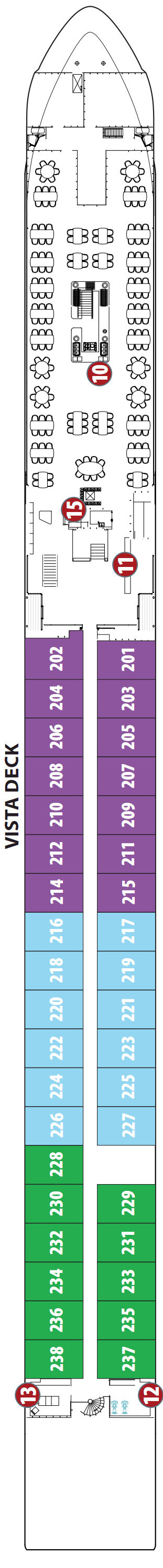 Emerald Star Ship Vista Deck layout
