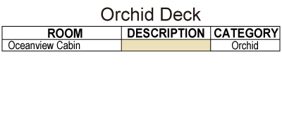 Fiji Princess Upper Orchid Deck plan keys