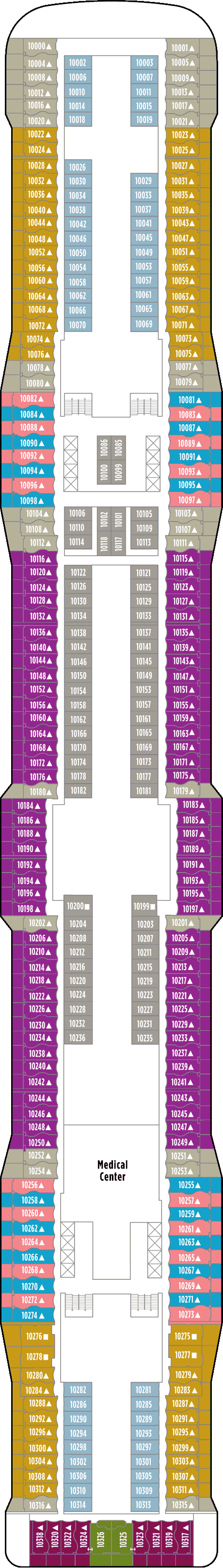 Norwegian Epic Deck 10 layout