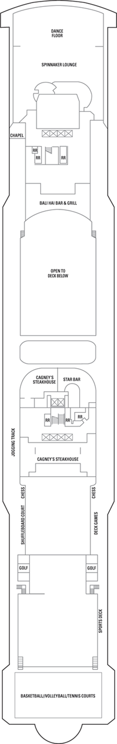 Norwegian Jade Deck 13 layout