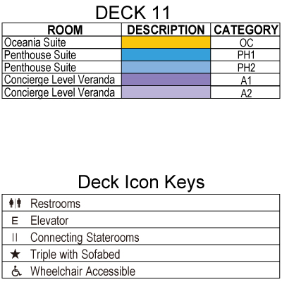 Marina Deck 11 plan keys