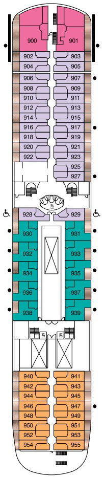Seven Seas Navigator Deck 9 layout