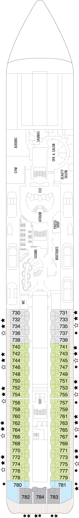 Seven Seas Mariner Deck 7 layout