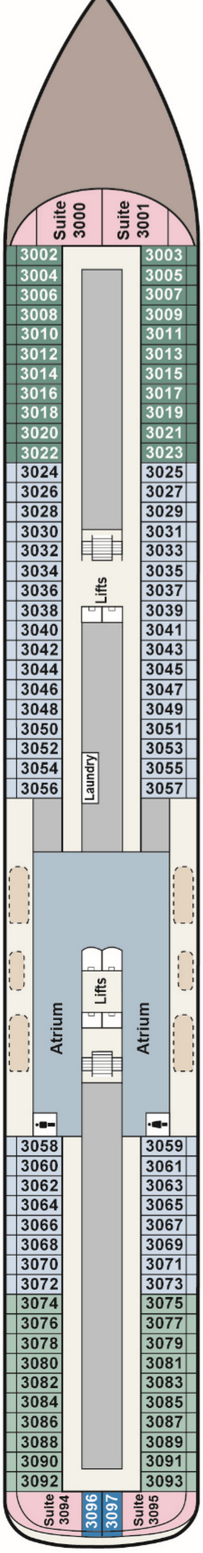 Viking Sky Deck 3 layout