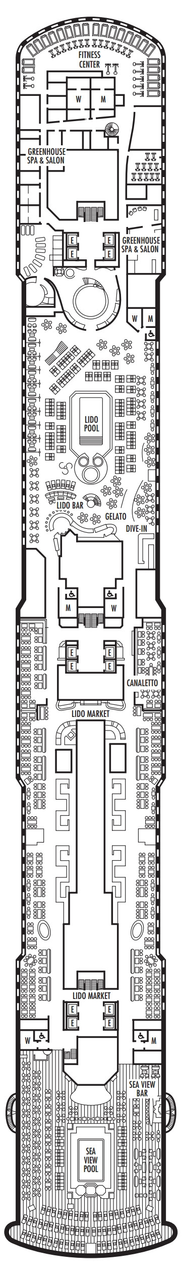 Koningsdam Lido Deck layout