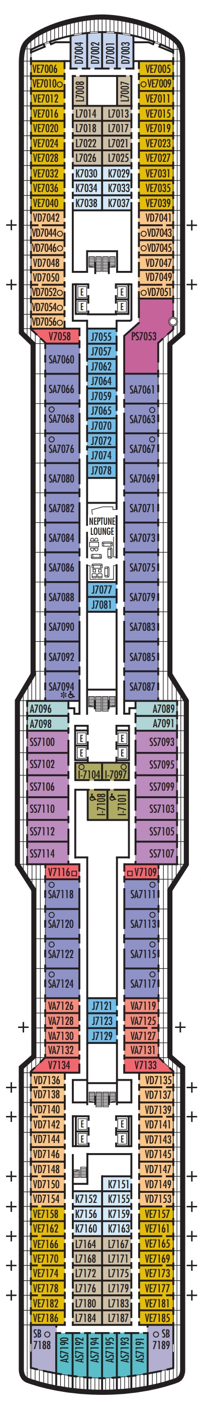 Koningsdam Schubert Deck layout