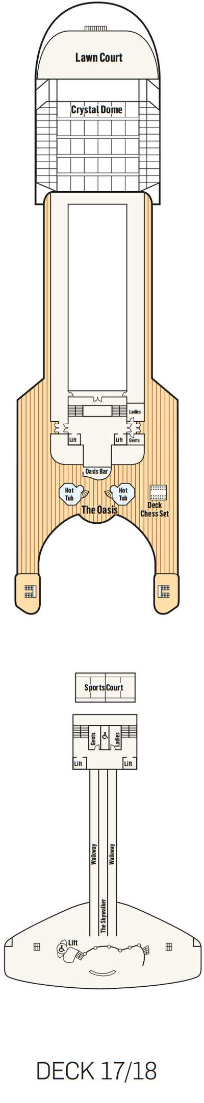 P&O - Pacific Adventure Deck 17 layout