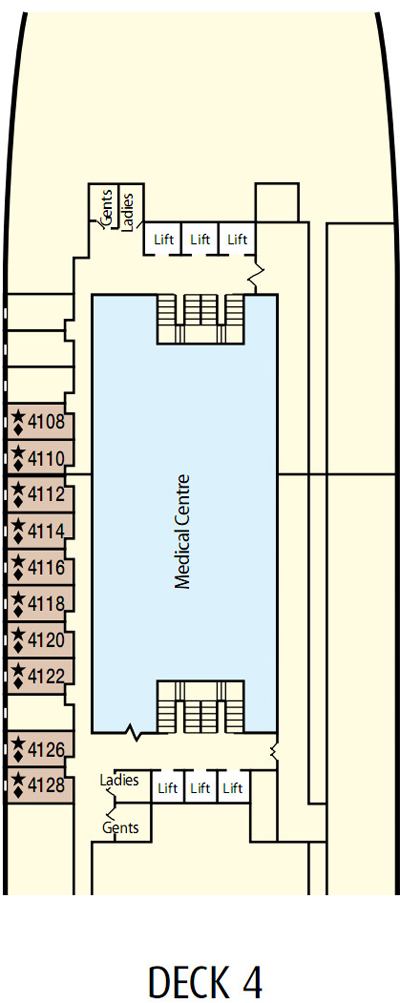 P&O - Pacific Dawn Deck 4 layout