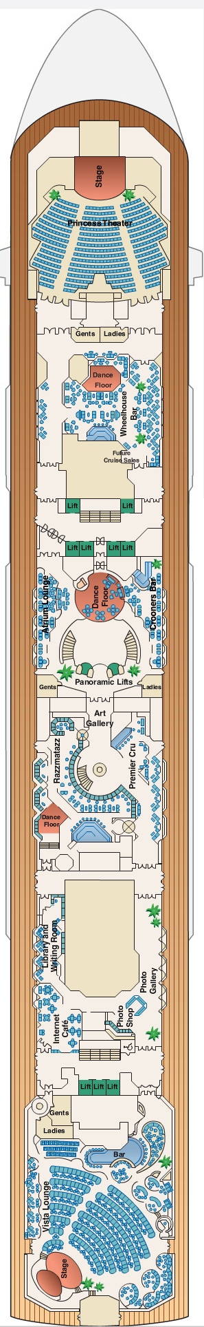 Sun Princess Promenade Deck 7 layout