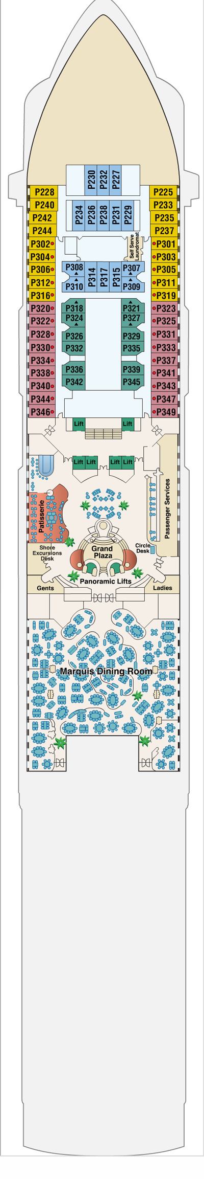 Sun Princess Plaza Deck 5 layout