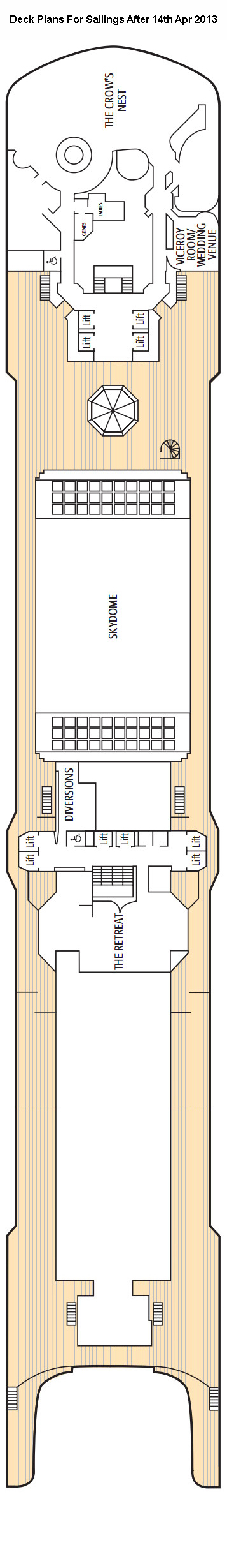 Arcadia Sun Deck layout