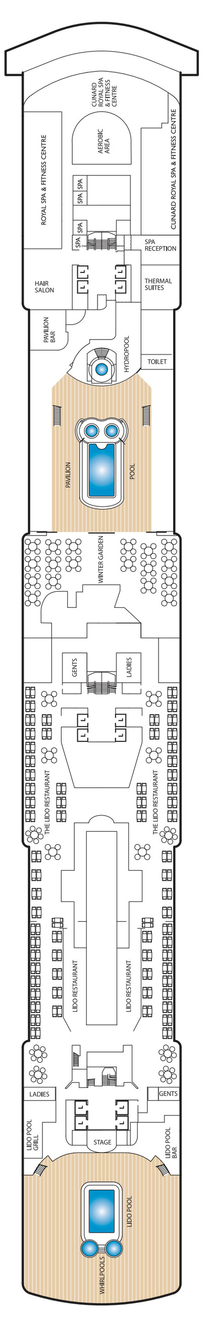 Queen Victoria Deck 9 layout
