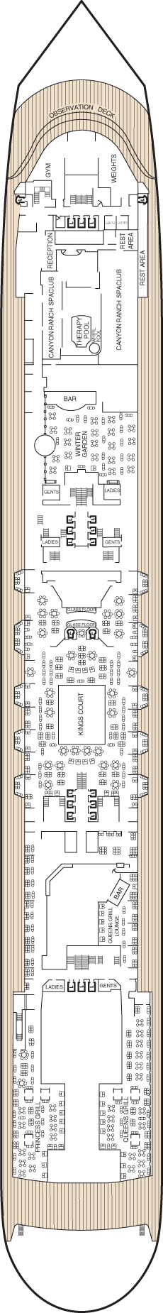 Queen Mary 2 Deck 7 layout