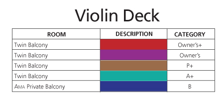ms Amabella Violin Deck plan keys