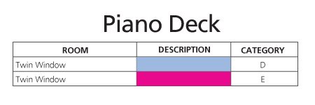 ms Amabella Piano Deck plan keys