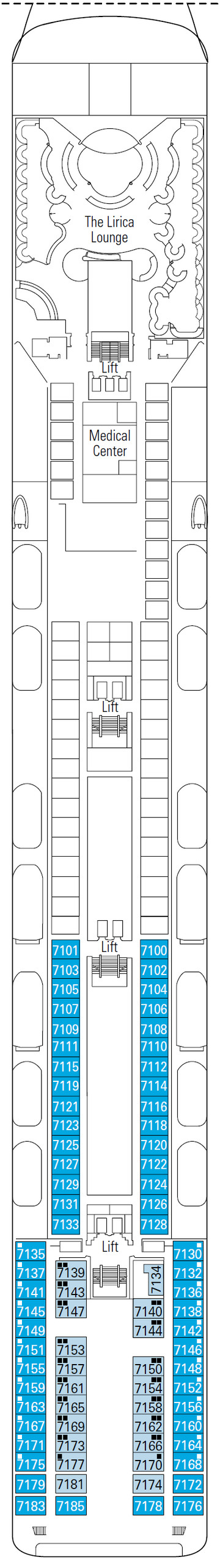 MSC Lirica Scarlatti Deck 7 layout