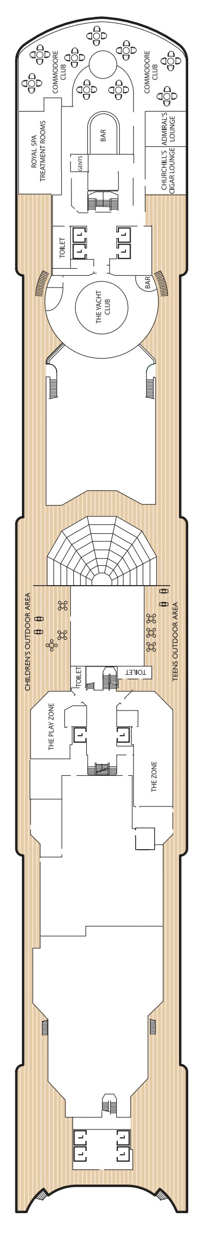 Queen Elizabeth Deck 10 layout