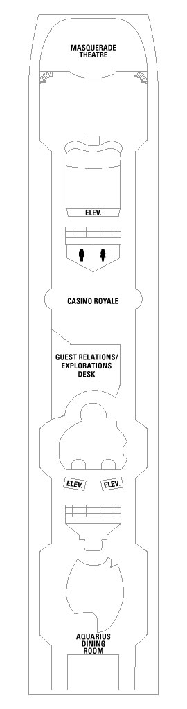 Vision Of The Seas Deck 5 layout