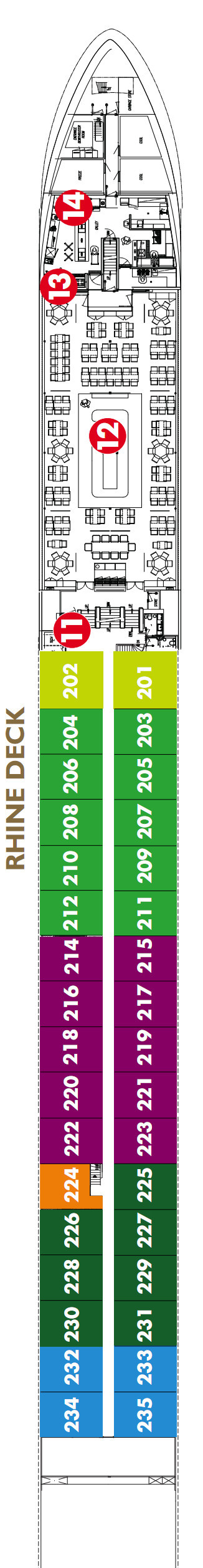 Scenic Ruby Rhine Deck layout