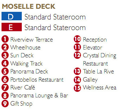 Scenic Ruby Moselle Deck plan keys