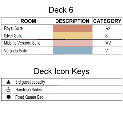 Silver Cloud Deck 6 plan keys