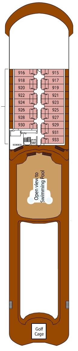 Silver Shadow Deck 9 layout
