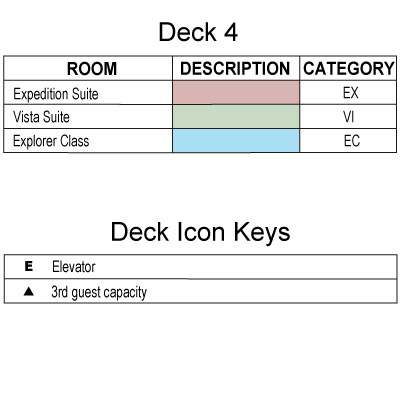 Silver Explorer Deck  4 plan keys