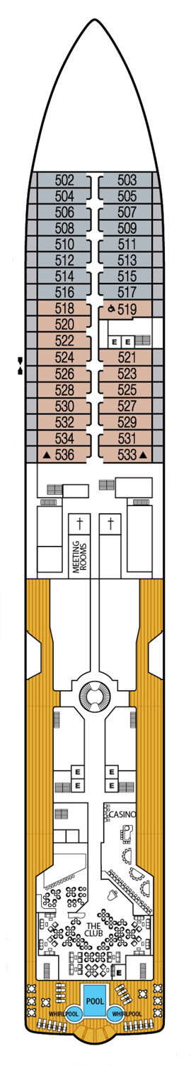 Seabourn Quest Deck 5 layout
