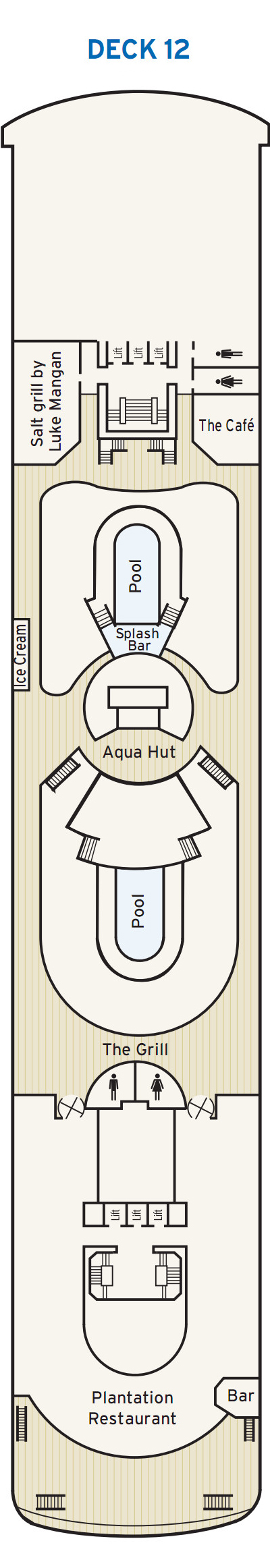P&O - Pacific Pearl Deck 12 layout